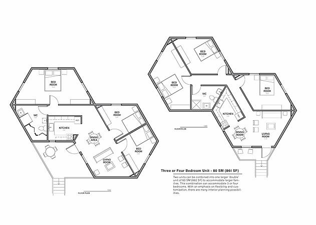 Hex House Drawings
